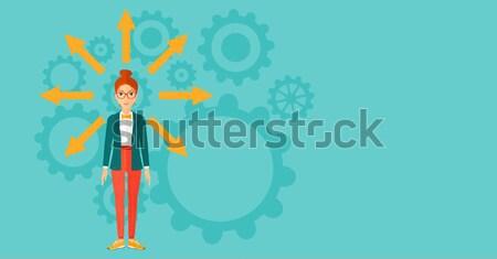 Business start omhoog jonge man Stockfoto © RAStudio