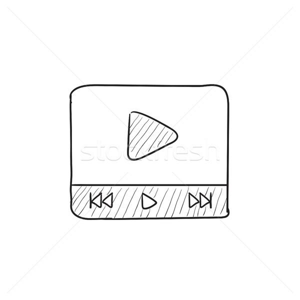 Video player sketch icon. Stock photo © RAStudio