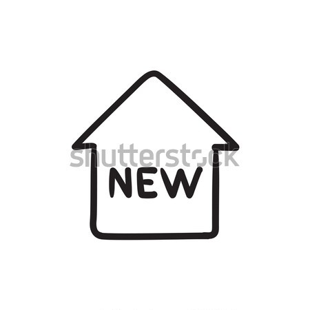 New house sketch icon. Stock photo © RAStudio