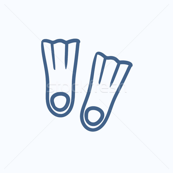 Flippers sketch icon. Stock photo © RAStudio