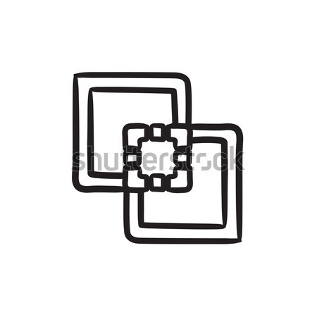 Stock photo: Outline sketch icon.