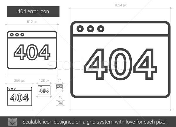 Web hata hat ikon 404 vektör Stok fotoğraf © RAStudio