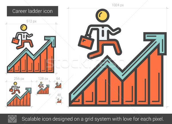 Career ladder line icon. Stock photo © RAStudio