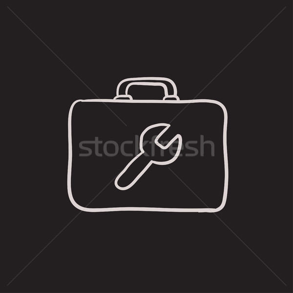 Toolbox schets icon vector geïsoleerd Stockfoto © RAStudio
