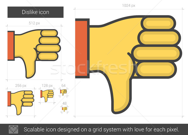 Dislike line icon. Stock photo © RAStudio