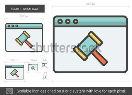 Ecommerce line icon. Stock photo © RAStudio