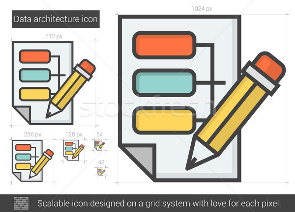 Data architecture line icon. Stock photo © RAStudio