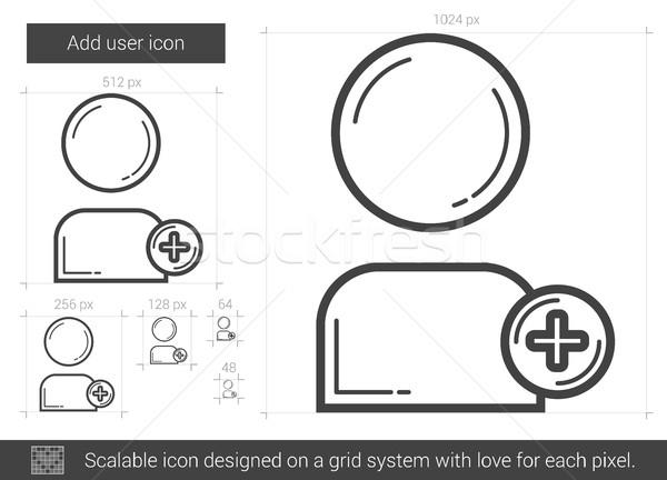 пользователь линия икона вектора изолированный белый Сток-фото © RAStudio