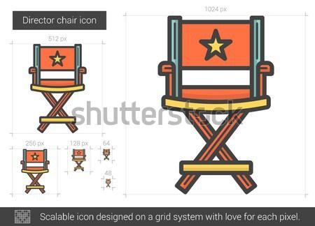 Director silla línea icono vector aislado Foto stock © RAStudio