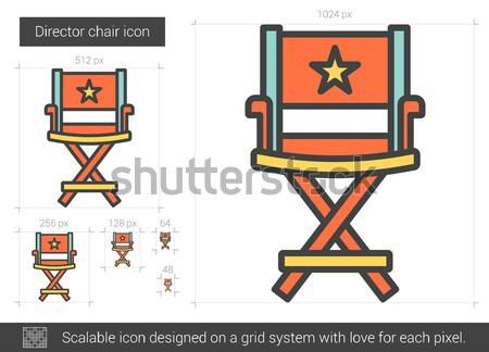 Direktor Stuhl line Symbol Vektor isoliert Stock foto © RAStudio