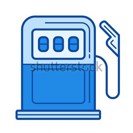 Petrol station line icon. Stock photo © RAStudio
