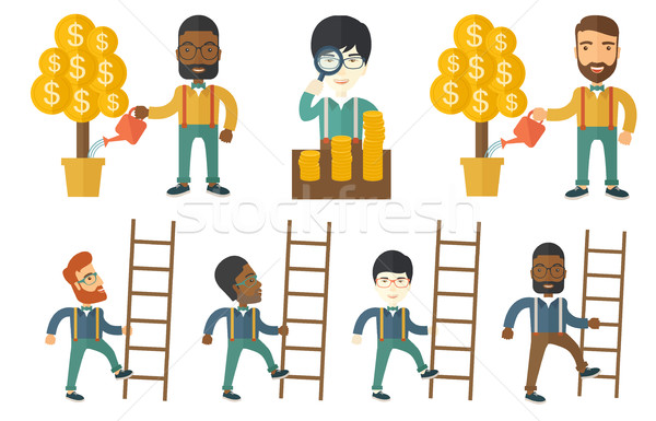Vector set of illustrations with business people. Stock photo © RAStudio