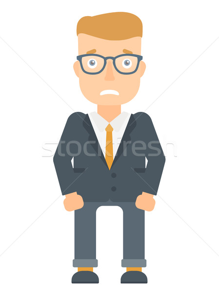 Embarrassed young businessman vector illustration. Stock photo © RAStudio