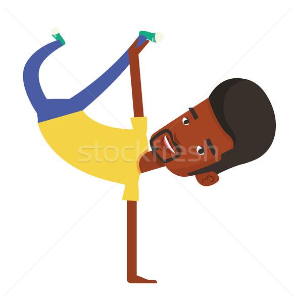 Young man breakdancing vector illustration. Stock photo © RAStudio