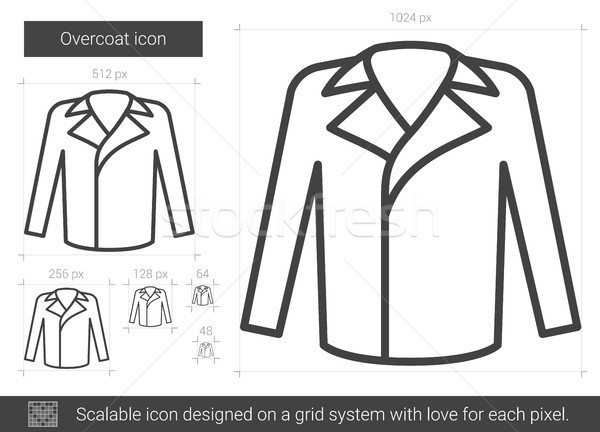 Overcoat line icon. Stock photo © RAStudio
