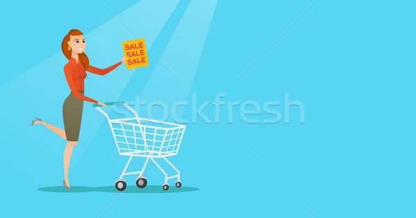 Donna esecuzione fretta store vendita Foto d'archivio © RAStudio