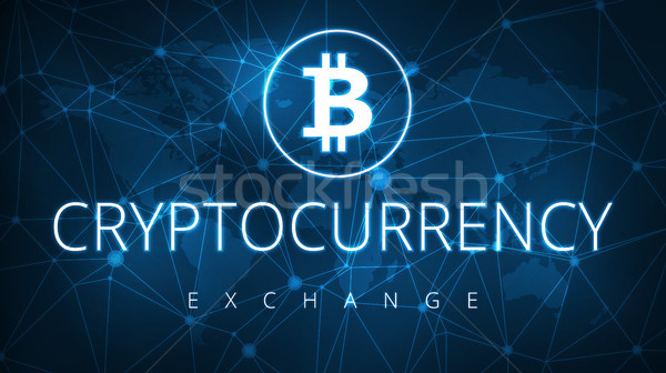 Cryptocurrency exchange futuristic hud banner. Stock photo © RAStudio