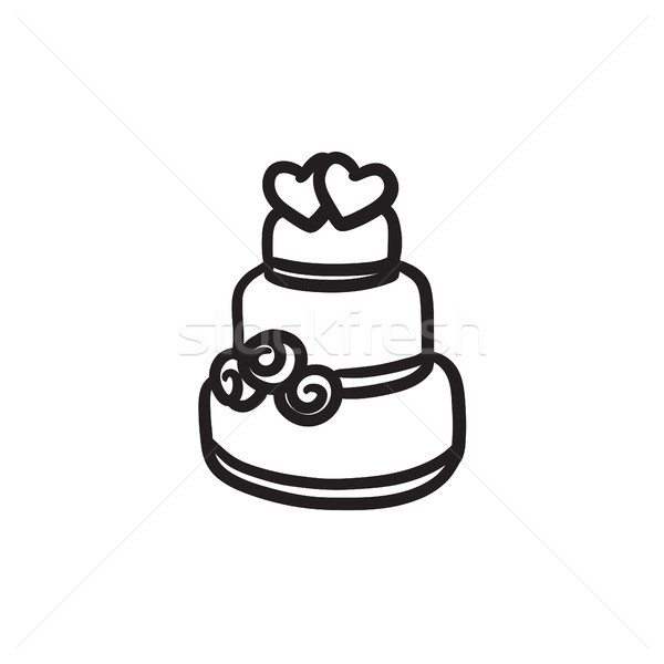 Wedding cake sketch icon. Stock photo © RAStudio