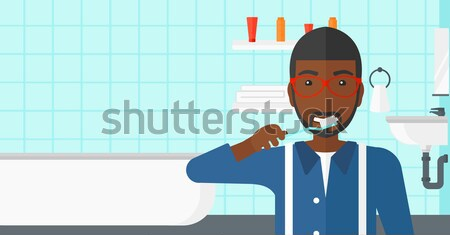 Beteg kórházi ágy férfi ágy kórház felszerlés Stock fotó © RAStudio