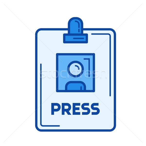 прессы Знак линия икона вектора изолированный Сток-фото © RAStudio