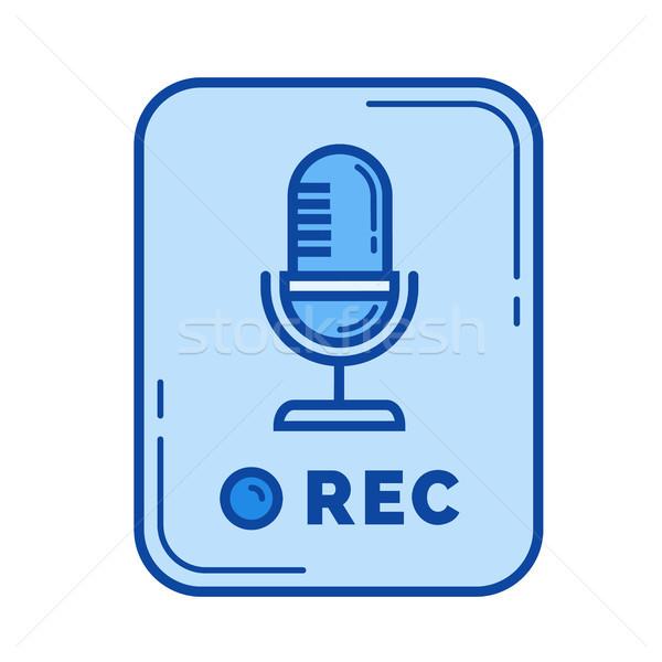 Voz registro aplicativo linha ícone vetor Foto stock © RAStudio