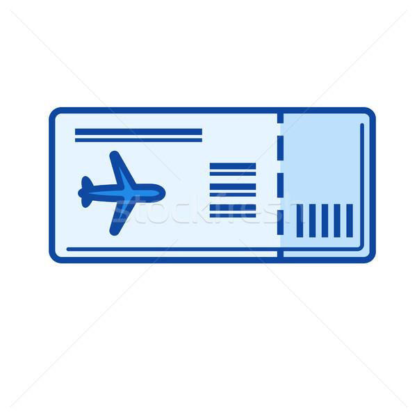 Boarding pass line icon. Stock photo © RAStudio