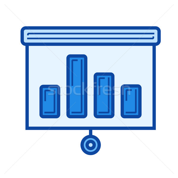 Bar graph line icon. Stock photo © RAStudio