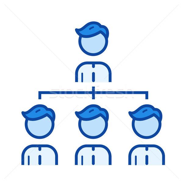 Team managment line icon. Stock photo © RAStudio