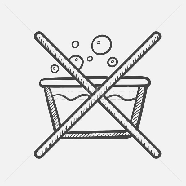 Do not washing label hand drawn sketch icon. Stock photo © RAStudio