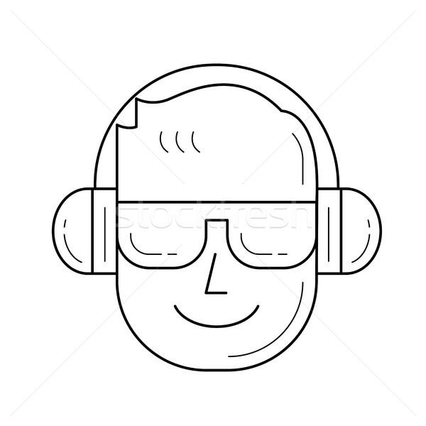 Music fan line icon. Stock photo © RAStudio