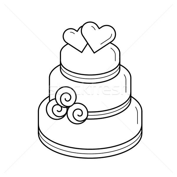 Wedding cake vector line icon. Stock photo © RAStudio