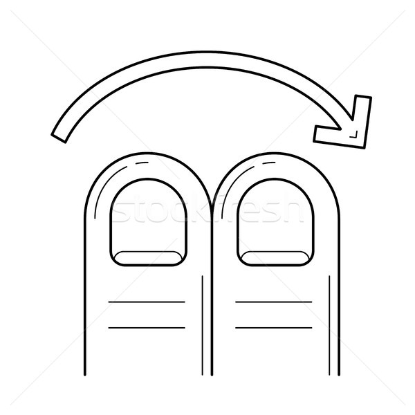Richtig line Symbol Vektor isoliert weiß Stock foto © RAStudio