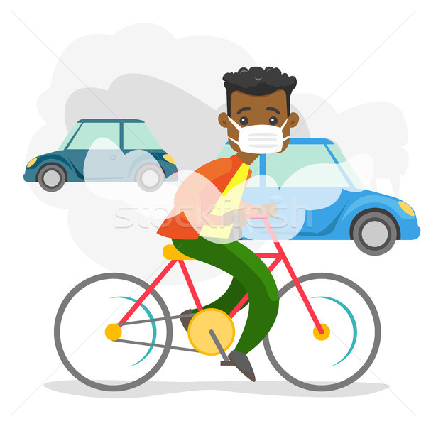 Air pollution caused by CO2 emissions from cars. Stock photo © RAStudio
