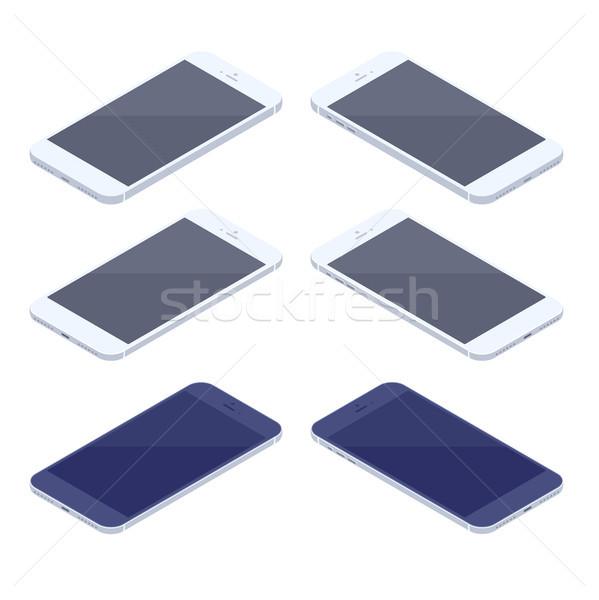 Isometric smartphone kit isolated on white background. Stock photo © RAStudio