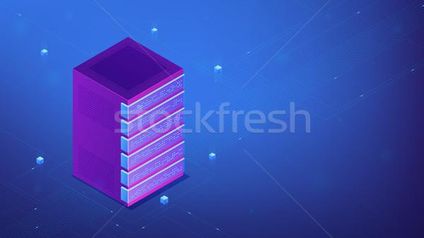 Isométrica rack de servidor rede equipamento proteger servidor Foto stock © RAStudio