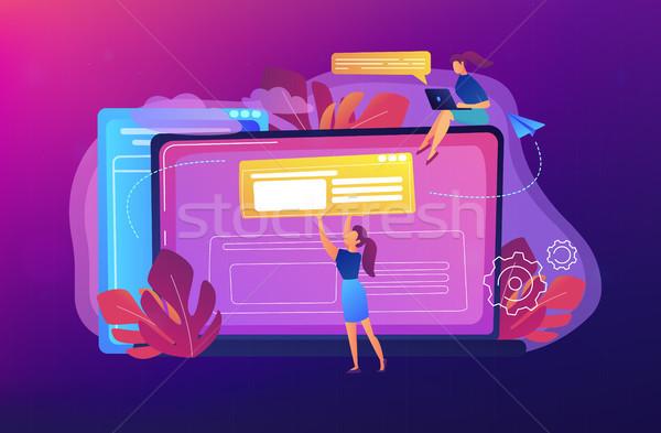 Bloging concept vector illustration. Stock photo © RAStudio