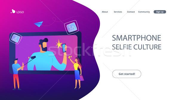 Selfie concept vector illustration. Stock photo © RAStudio