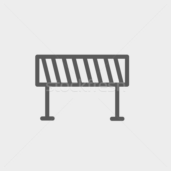 Estrada fino linha ícone teia móvel Foto stock © RAStudio