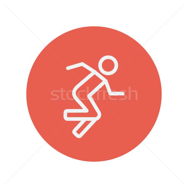 Running man thin line icon Stock photo © RAStudio