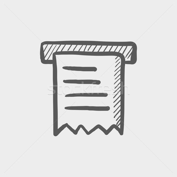 Réception croquis icône web mobiles dessinés à la main Photo stock © RAStudio