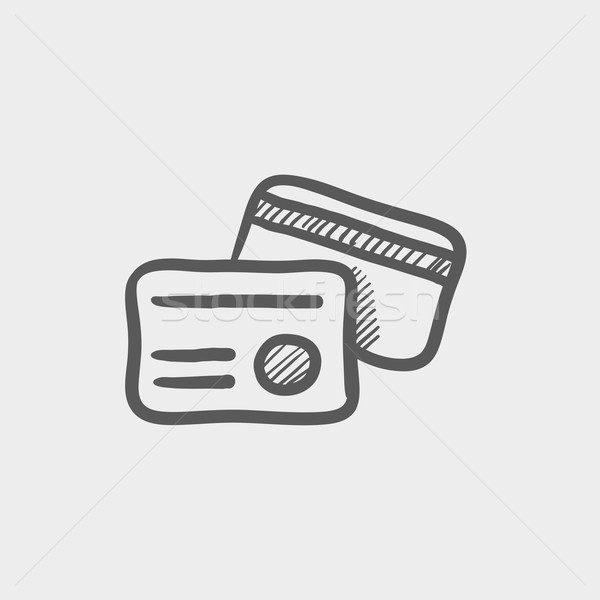 Identification card sketch icon Stock photo © RAStudio