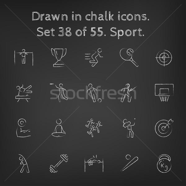 スポーツ チョーク 手描き 黒板 ストックフォト © RAStudio