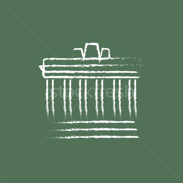Acrópole Atenas ícone giz Foto stock © RAStudio