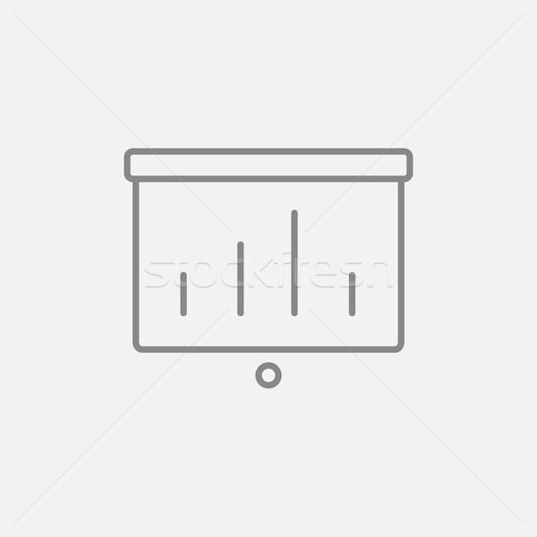 Projektör ekran hat ikon web hareketli Stok fotoğraf © RAStudio