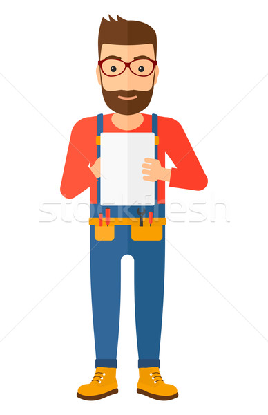Constructor tableta barba notas Foto stock © RAStudio