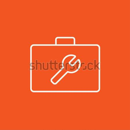 Toolbox line icon. Stock photo © RAStudio
