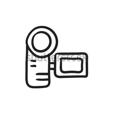 Digital filmadora linha ícone teia móvel Foto stock © RAStudio