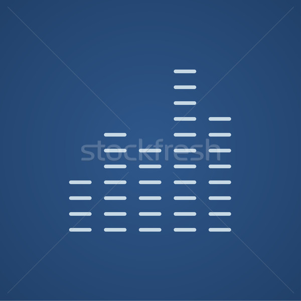 Digital ecualizador línea icono web móviles Foto stock © RAStudio