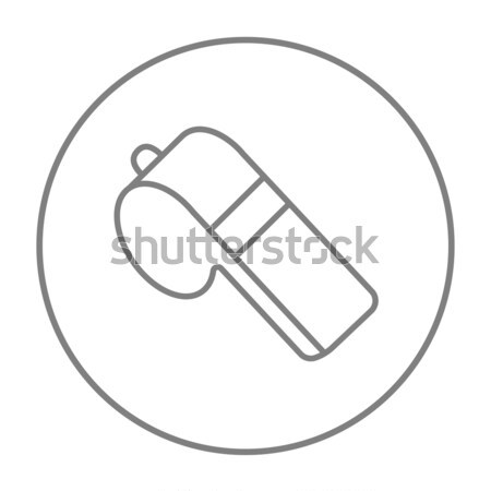 Whistle line icon. Stock photo © RAStudio