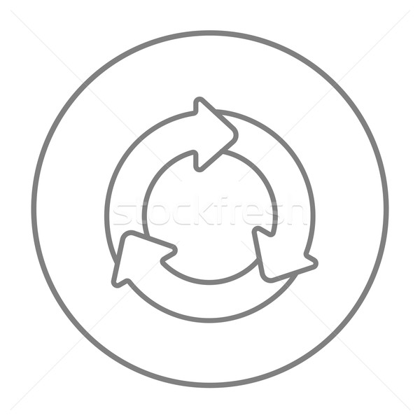 Arrows circle line icon. Stock photo © RAStudio